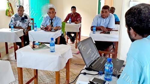 Various faith-based leaders during their meeting in Labasa yesterday. Picture: LUISA QIOLEVU