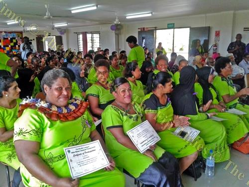 Graduates of the sewing course during their graduation at the Makoi Vocational Training Centre in Nasinu. Picture: Manasa Kalouniviti