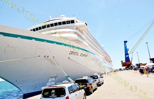 The Crystal Symphony berthed at the Lautoka wharf last week. Picture: BALJEET SINGH