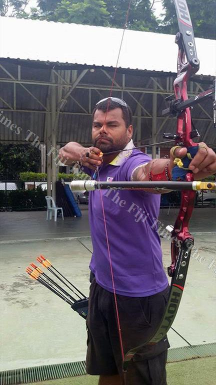 Robert Elder training in Sydney, Australia for the Commonwealth Games next month. Picture: SUPPLIED