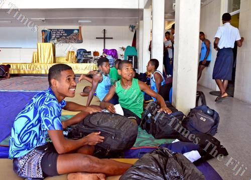 Lomaivuna High School athletes after arriving at their team camp in Suva yesterday. Picture: JONACANI LALAKOBAU