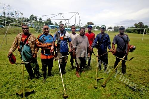 Villagers of Vatulele and Nabuna were part of a recent clean-up of the Vunivasa District School compound. Picture: JONA KONATACI