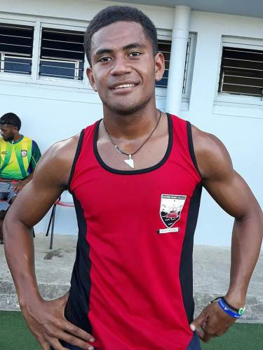 Sacred Heart College's Josateki Ratukaudale who won the blue ribbon event this afternoon. Picture: ALISI VUCAGO