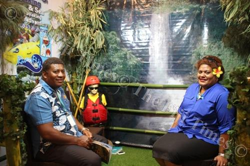 The Rivers Fiji booth at the Fiji Tourism Expo 2017. Picture: SUPPLIED