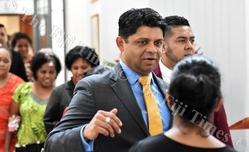Attorney-General and Acting Prime Minister Aiyaz Sayed-Khaiyum in Parliament. Picture: RAMA
