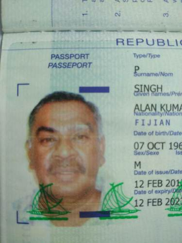 One of the missing passports is under the name of Alan Kumar Singh. Picture: SUPPLIED