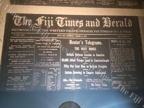 The Fiji Times & Herald in 1920. Picture: SUPPLIED