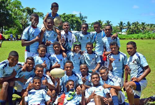 The Lelean Memorial School U15 team during the Fiji Secondary Schools South/East Zone rugby league at the St Marcellin Primary School grounds in Vatuwaqa yesterday. Picture: JONACANI LALAKOBAU