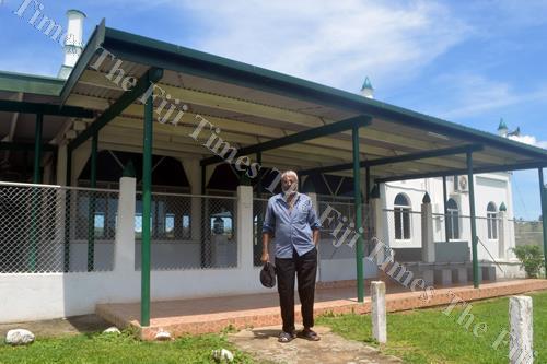 Isma Azam in front of the Vitogo Paipai mosque in Lautoka. Picture: SHAYAL DEVI