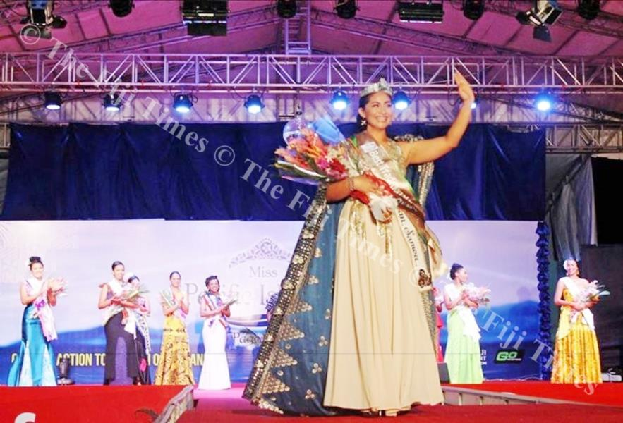 Miss Pacific Islands Matauaina To'omalai, from American Samoa, during the Miss Pacific Islands Pageant last year. Picture: SUPPLIED.