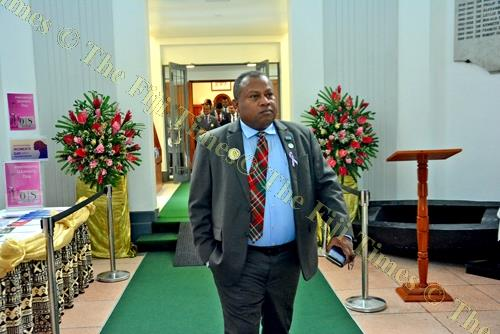 Minister for Agriculture Inia Seruiratu after a Parliament sitting last week. Picture: JONACANI LALAKOBAU