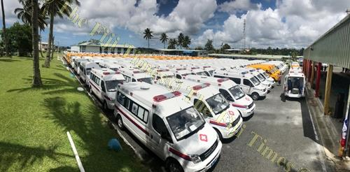 """The 200 vehicles given by the Chinese Government which also included 50 police vehicles at the Nasinu Police Station last month. A letter writer commends the stern warning made by the Police Commissioner """"that the abuse of police vehicles will not be tole"""