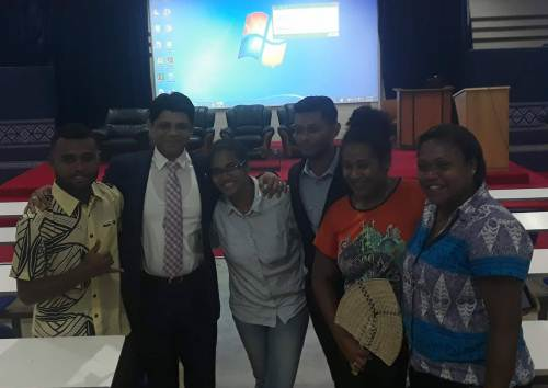 Students of FNU Nasinu at the national budget consultations with Attorney General Aiyaz Sayed-Khaiyum. Picture: ALISI VUCAGO