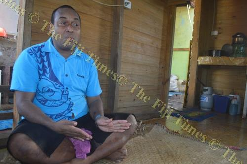 Sairusi Fulalo explains his life journey during an interview. Picture: SITERI SAUVAKACOLO