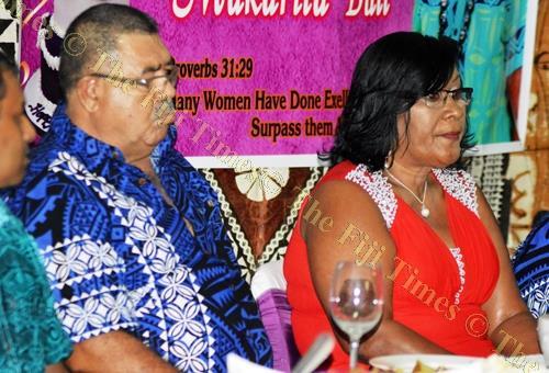 Husband and wife ... Frederick and Makarita Bull at the birthday celebration. Picture: LUKE RAWALAI