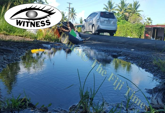 Litres of precious water is oozing out beside a rubbish pile near the junction of Tivi Place and Kadikadi Place in Nadawa, Nasinu. Picture: ELIKI NUKUTABU