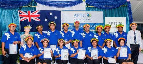 APTC graduates during the Kiribati graduation ceremony yesterday. Picture: SUPPLIED