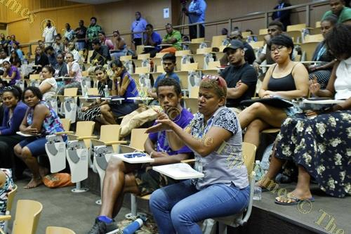 Participants during the A-G's consultation at USP this week. Picture: ATU RASEA