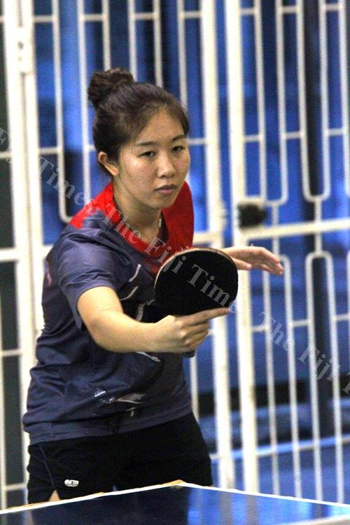 Fiji table tennis player Xuan Carolyn Li during a training session in Suva. Picture: Jona Konataci