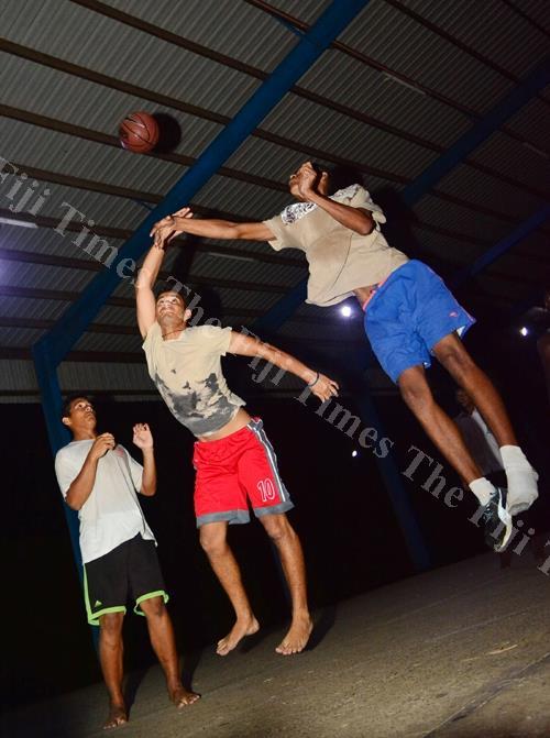 Jioji Vosailagi of the Milverton basketball team in action during the Post Fiji Raiwaqa Inter-lane Basketball Tournament at Edward Hatauer Court in Suva yesterday. Picture: JOVESA NAISUA