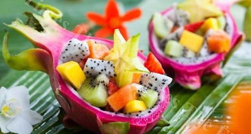 Soon to served across Fiji dragonfruit salad. Picture: SUPPLIED