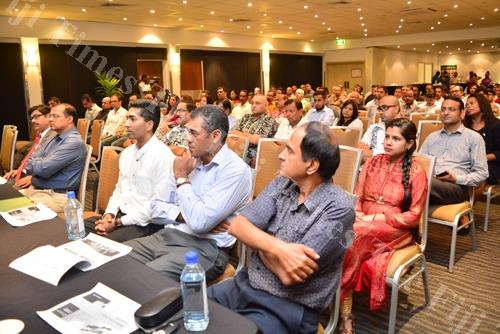 Participants at the Indian High Commissioner's Business Meeting at Holiday Inn Suva on Friday. Picture: JOVESA NAISUA