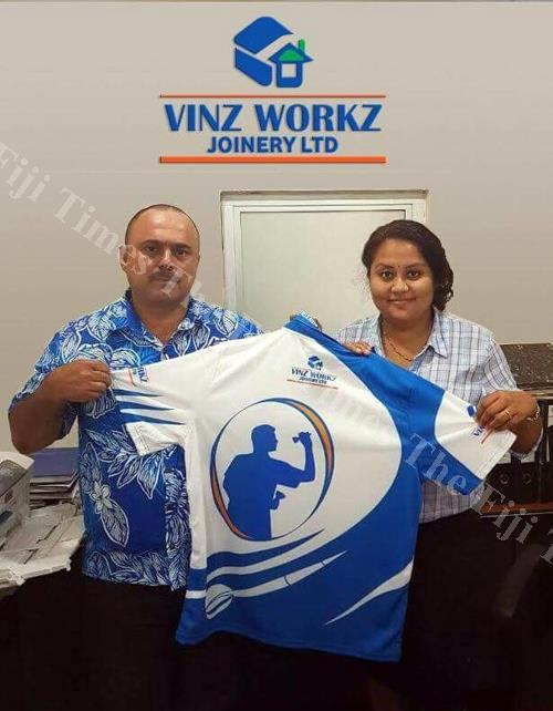 Team captain Salendra Singh and Vinz Workz and Joinery LTD general manager marketing Sangeeta Singh. Picture: SUPPLIED.