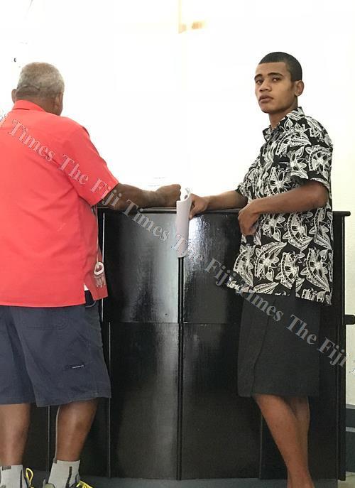 19-year-old Inoke Cagitukana outside the High Court in Suva yesterday. Picture: JOVESA NAISUA