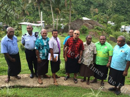 Government officials including the Commissioner Central Setareki Tale (second from right) were present at the launch of the organic farming project in Nasoqo, Naitasiri last week. Picture: MATILDA SIMMONS