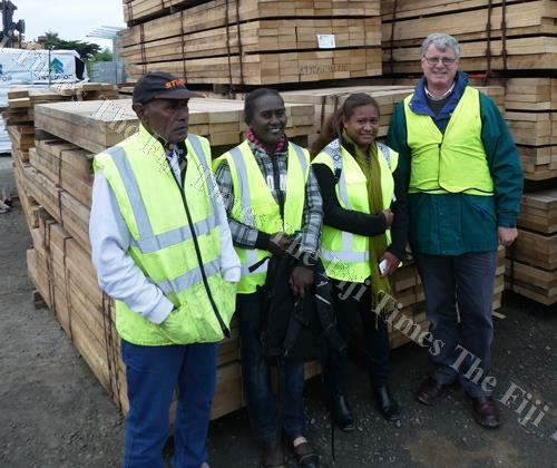 Julius Houria, Beryl Pitatina and Shabella Rathamana, of the Solomon Islands Timber Processors and Exporters Association, travelled to New Zealand in June 2017 to strengthen industry collaboration and progress efforts towards third party legality certific