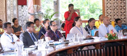 Delegates at the opening of the Pacific Financial Technical Assistance Centre of the IMF Steering Committee Meeting 2018 today. Picture: SUPPLIED