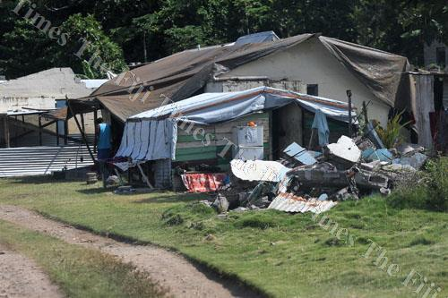 The remains of what were houses after the destruction of Severe Tropical Cyclone Winston in Nasau, Koro. Picture: JONA KONATACI