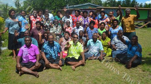 Participants of a village integrated management planning workshop at Vio Village in Lautoka. Picture: REINAL CHAND