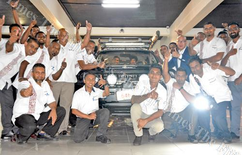 Carpenters Motors staff members and guests with the new ISUZU IRONMAN vehicle during the launching at its showroom in Walu Bay, Suva. Picture: JONACANI LALAKOBAU