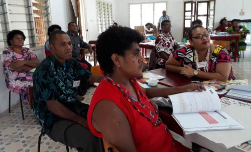 Participants at the 'Children are a Precious Girt from God' workshop at the Fiji Scouts Hall in Labasa today. Picture: LUISA QIOLEVU