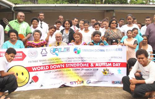 World Down Syndrome and Autism Day was celebrated at the FNCPD Building this morning. Picture: JONA KONATACI