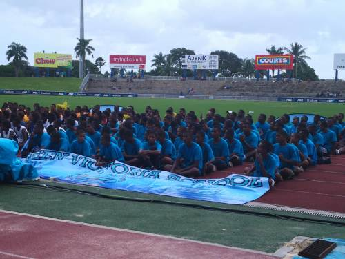 QVS athletes at the closing ceremony of the Tailevu Zone this afternoon. Picture: LICE MOVONO