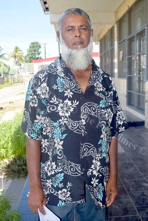 Navua fisherman Faruk Mohammed Hassan takes some time out from his busy schedule to tell his story in Navua. Picture: SOPHIA RALULU