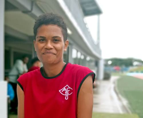 Best of the girls ... Asinate Kasowaqa of Adi Cakobau School was last years best female athlete at the Coke Games. Picture: LICE MOVONO