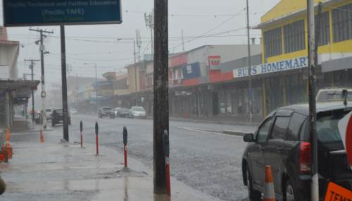 Its a rainy Easter weekend in Labasa but not enough to cause floods, yet. Picture: Serafina Silaitoga