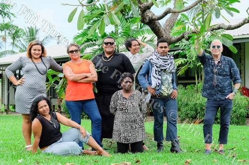 Eminent Australia-based fashion teacher Nicholas Huxley (right) with Fiji Fashion Week (FJFW) emerging designers who will be featured at the Fiji Fashion Week 2018. Picture: SUPPLIED