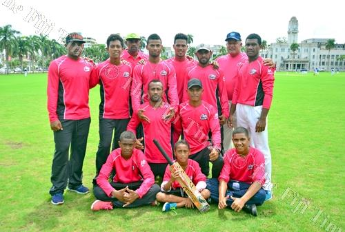 The Oneata Cricket team during the Easter Cricket competition at Albert Park in Suva on Monday, April 02, 2018. Picture: JONACANI LALAKOBAU