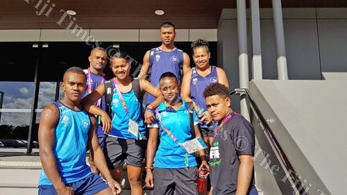 Gold prospects ... Members of the Team Fiji Weightlifting squad after a training session in Gold Coast, Australia yesterday. Picture: ATMA MAHARAJ/SUPPLIED