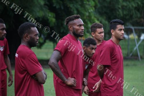 Members of the Lautoka team at a training session. Picture: FIJI FA MEDIA