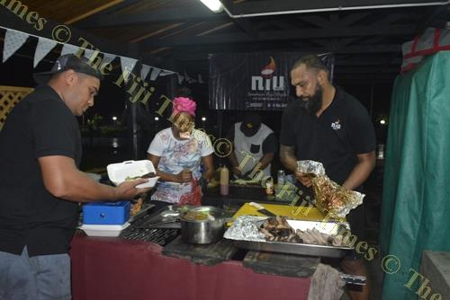 Niu Grillz Restaurant staffs prepare meals for the members. Picture: REINAL CHAND
