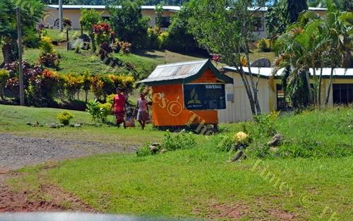 Students of Navesau Adventist High School at their school in Wainibuka, Tailevu yesterday. Picture: PAULINI RATULAILAI