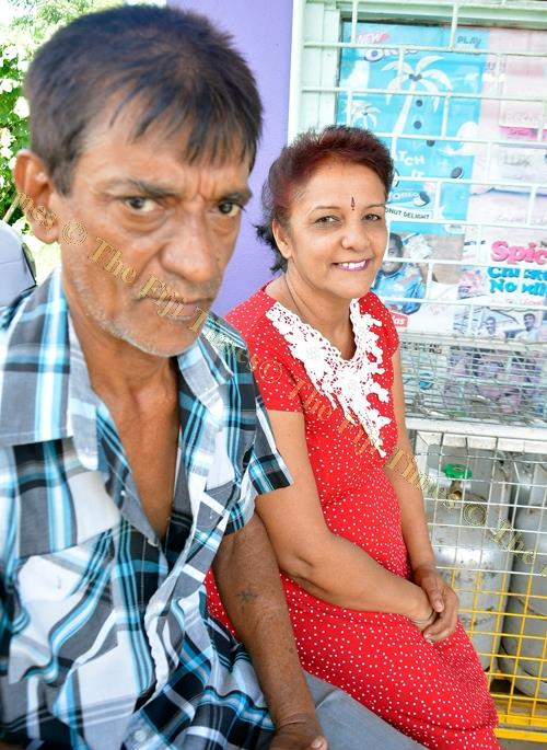 Sumindar Kaur with her husband Narendra Singh outside their shop at Naikabula in Lautoka. Picture: BALJEET SINGH