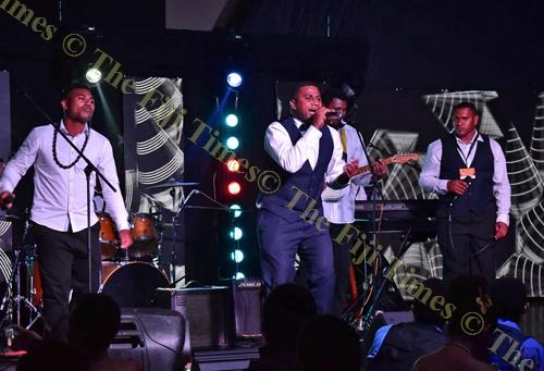Kula Kei Uluivuya lead singer Viliame Cokanauto and his group entertain guests during the 2017 FPRA Music Awards. Picture: FT FILE
