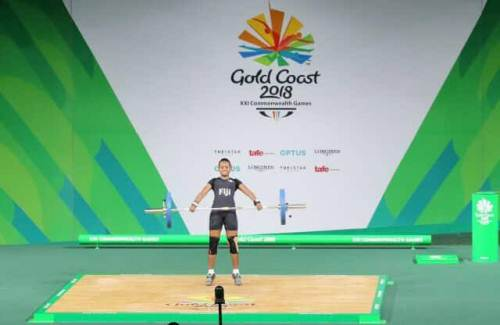 Seruwaia Malani at the 2018 Commonwealth Games today. Picture: Alisi Vucago
