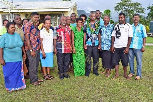 Assistant Minister for Agriculture Viam Pillay with government officials and villagers at Dogotuki Nursing Station. Picture: SUPPLIED